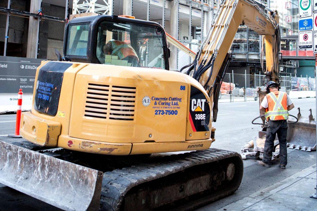 A-1 Concrete Cutting + Coring | Excavator